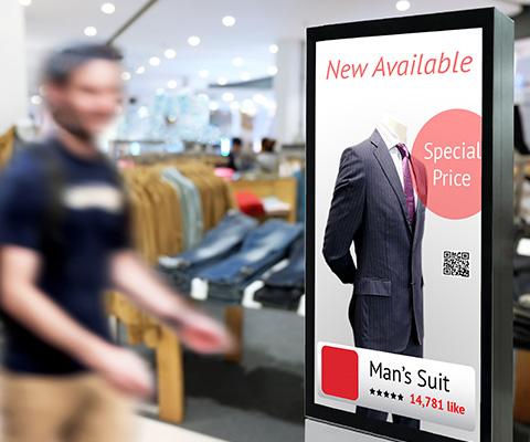 Reklámtáblákhoz, terminálokhoz és automatákhoz